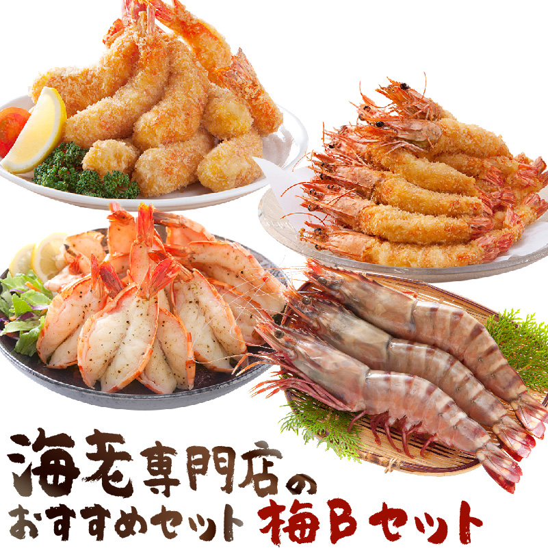 【ふるさと納税】海老専門店のおすすめセット 梅Bセット (定期便12回)