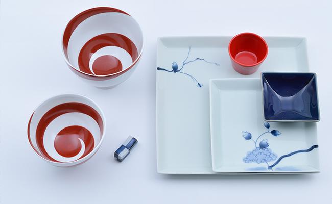A30-129【ふるさと納税】有田焼 クニエダヤスエSTYLE お洒落な食卓セット(7点) まるぶん