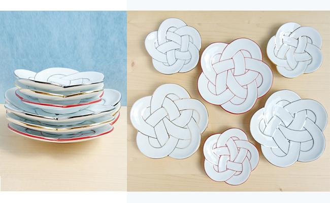 梅むすび皿6枚セット【陶磁器】 田清窯 A35-8【ふるさと納税】まるふく 有田焼
