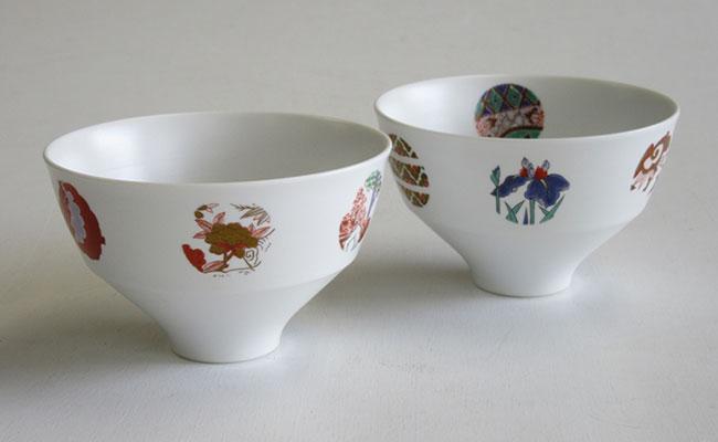 有田焼 陶磁器 茶碗 ご飯用 A25-149【ふるさと納税】ARITA PORCELAIN LAB(アリタポーセリンラボ) ASTEROID(アステロイド)・ペア段付飯碗