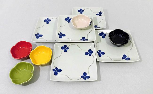 A30-48【ふるさと納税】✿さりげなく食卓に花を添える、ハレの日の器セット✿ 有田焼 深海三龍堂