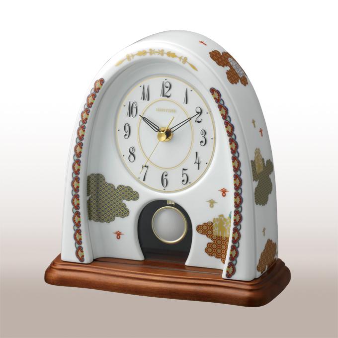 A170-4【ふるさと納税】香蘭社 雲散らし クオーツ置時計