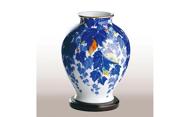 A130-6【ふるさと納税】香蘭社 蔦・花瓶