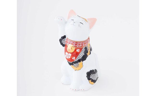 A30-30【ふるさと納税】賞美堂本店 招福猫 miw【椿・子】【陶磁器】
