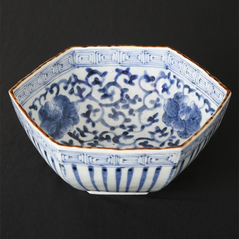 【ふるさと納税】BH20010R 有田焼『福泉窯』染付六角菓子鉢