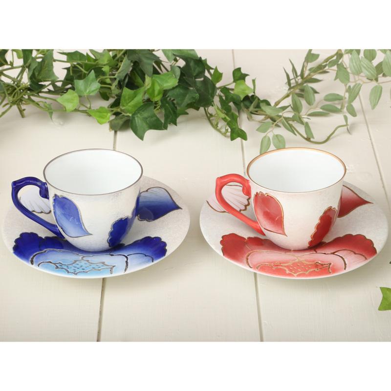 【ふるさと納税】BH19016R 有田焼『田清窯』 牡丹 コーヒー碗皿ペア