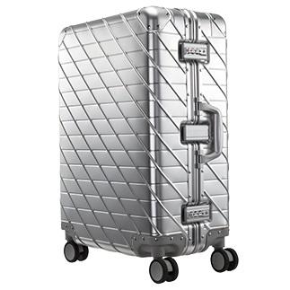 【ふるさと納税】スーツケース中型サイズKAMEO(シルバー)