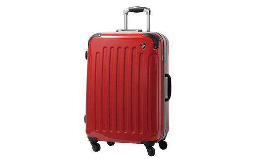 【ふるさと納税】PC7000スーツケース(Mサイズ・ロイヤルレッド)