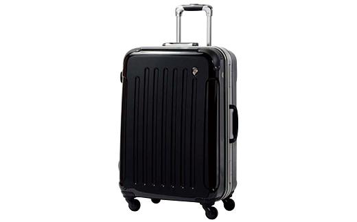 【ふるさと納税】PC7000スーツケース(MSサイズ・ナイトブラック)