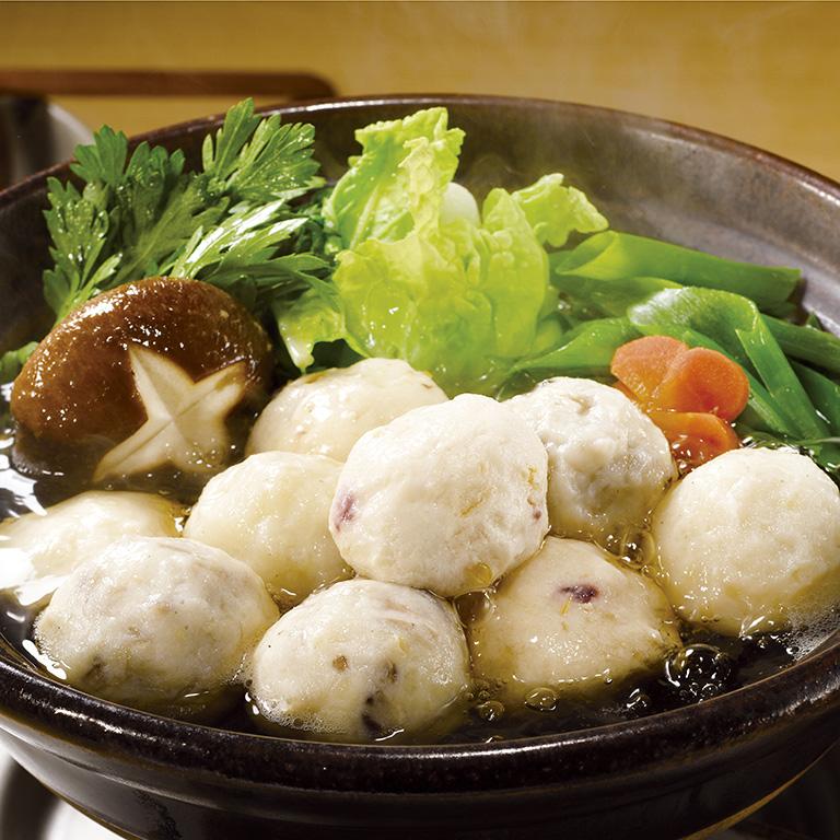 【ふるさと納税】フワフワつみれ鍋セット~安心の地元野菜付~