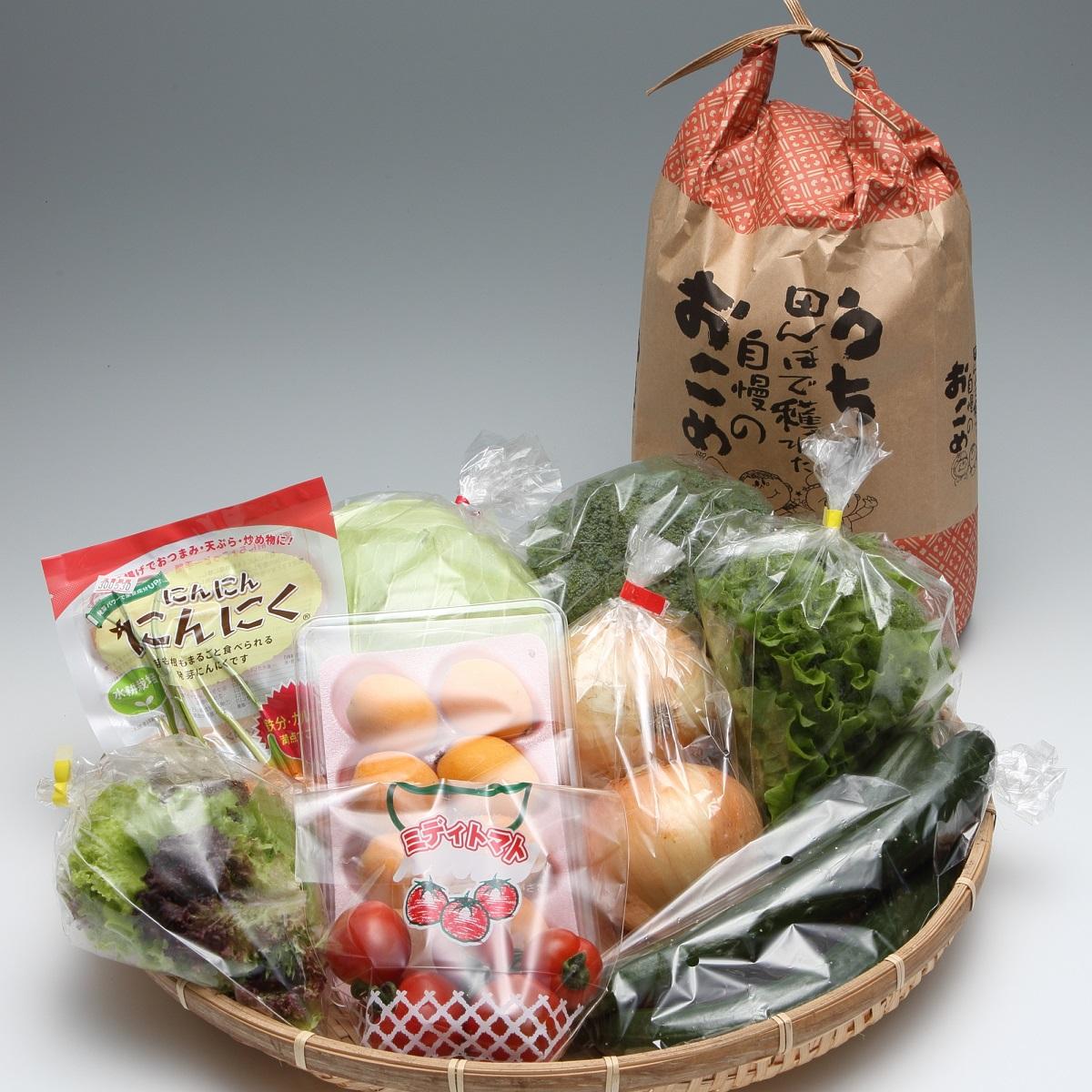 【ふるさと納税】【B0-008】道の駅松浦海のふるさと館『旬のお野菜+お米5kg』の大満足セット!