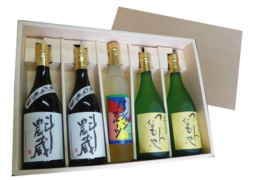 【ふるさと納税】焼酎リキュールセットT2T2P(麦、芋、リキュール)5本セット