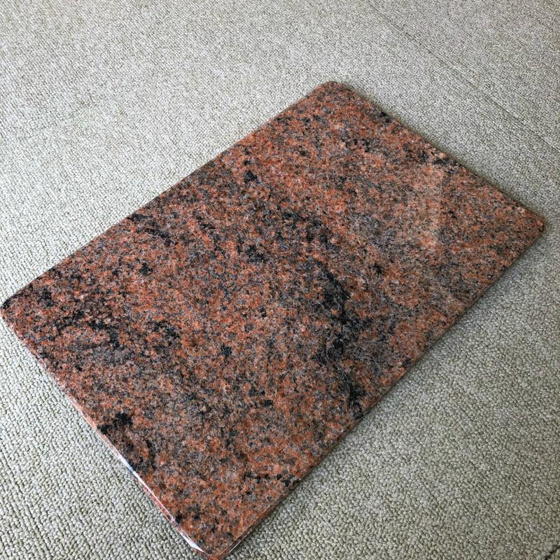 【ふるさと納税】【C0-019】乗せた物を引き立てる御影石のプレート(赤)