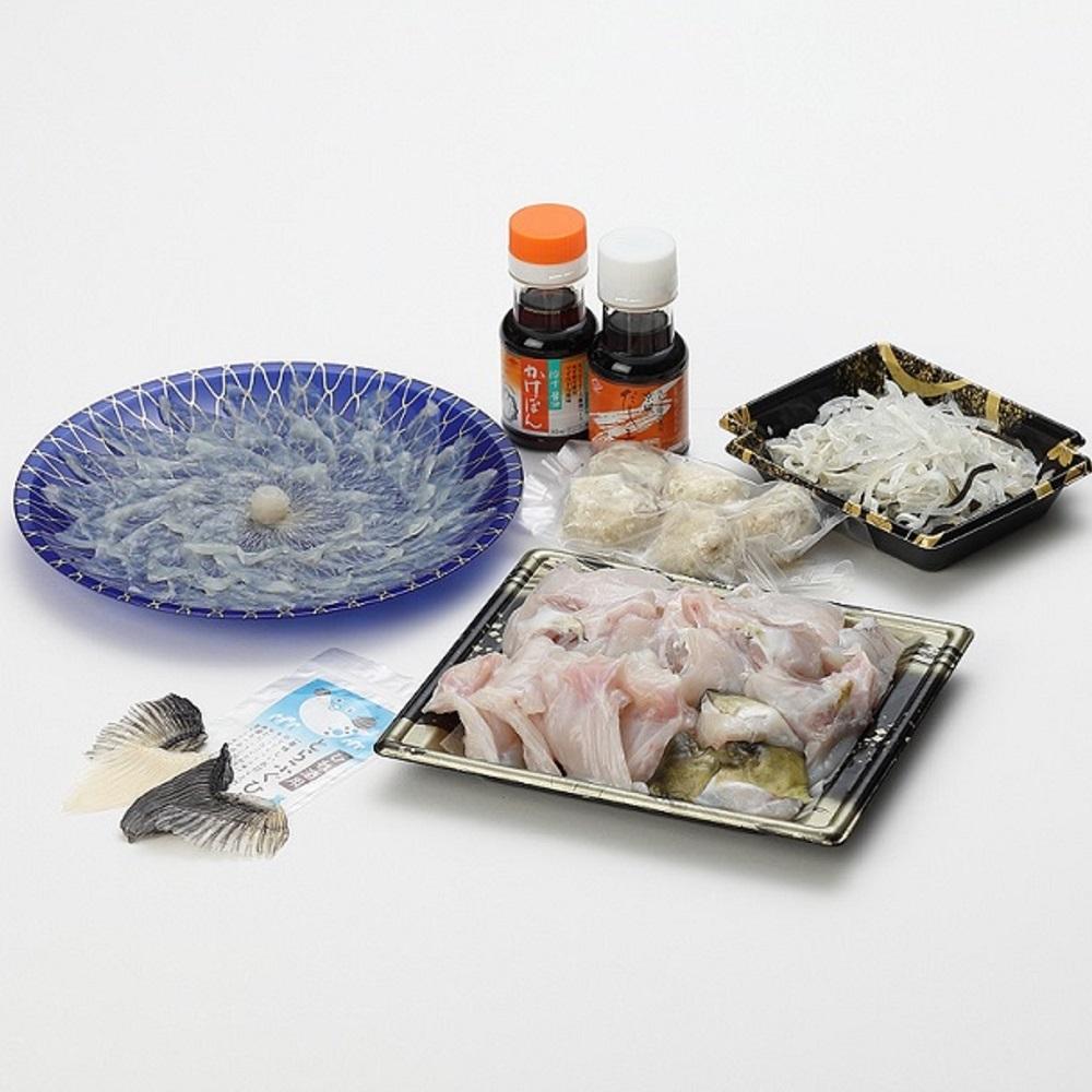 【ふるさと納税】【C0-035】漁協直送!とらふぐ刺身とちり鍋セット2人前(白子、茶漬け付)