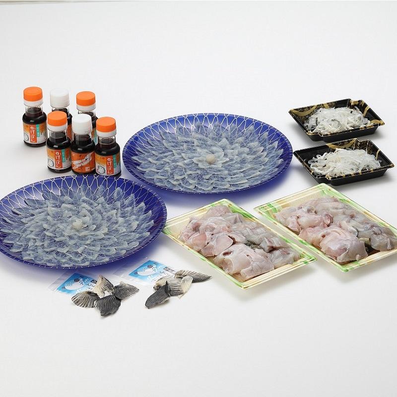 【ふるさと納税】【I7-001】とらふぐ刺身と鍋セット(6~8人前)