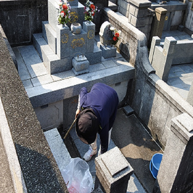 【ふるさと納税】 シルバー墓守りさんサービス 1回 清掃 草むしり 造花のお供え 作業によるごみの処分等 代行