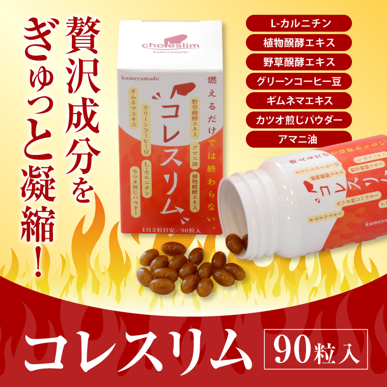 【ふるさと納税】亀山堂 コレスリム 410mg×90粒 送料無料 酵母 ダイエット サプリメント