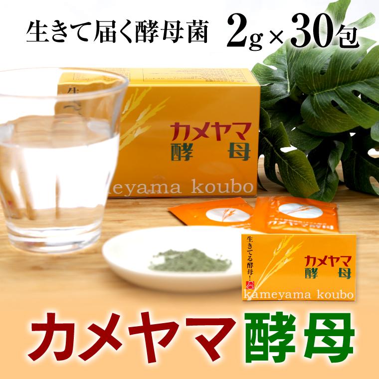【ふるさと納税】亀山堂 カメヤマ酵母 2g×30包 送料無料 酵母 ダイエット サプリメント