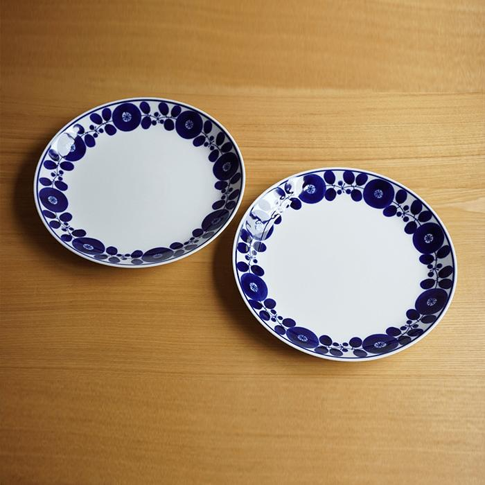 【ふるさと納税】TA08 【BLOOM】ディナープレート(リース)2枚セット【白山陶器】