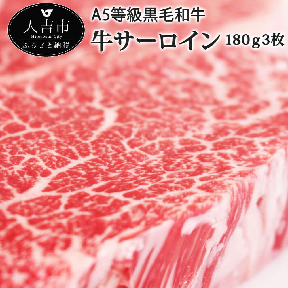【ふるさと納税】牛サーロイン ステーキ 180g×3枚 合計540g ステーキ 国産 黒毛和牛 A5等級 サーロイン 牛肉 冷凍 送料無料
