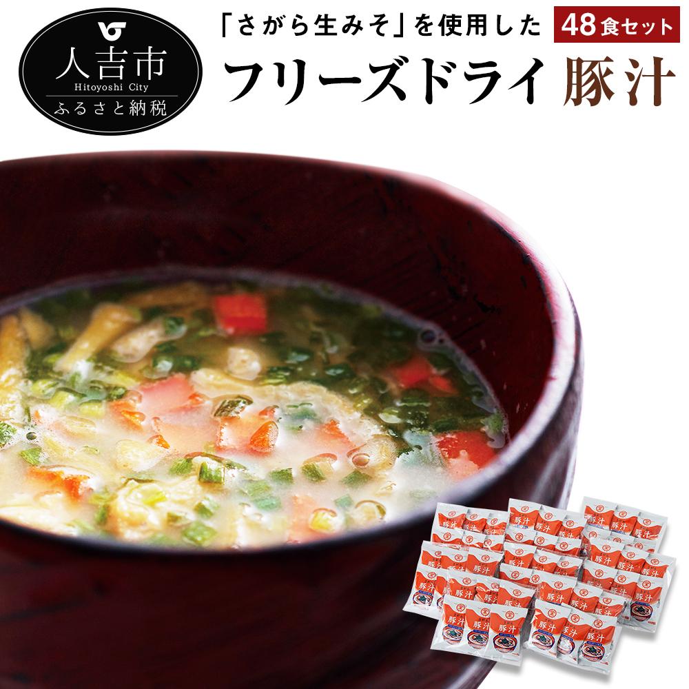 【ふるさと納税】フリーズドライ豚汁 48食セット インスタント 簡単調理 国産 送料無料