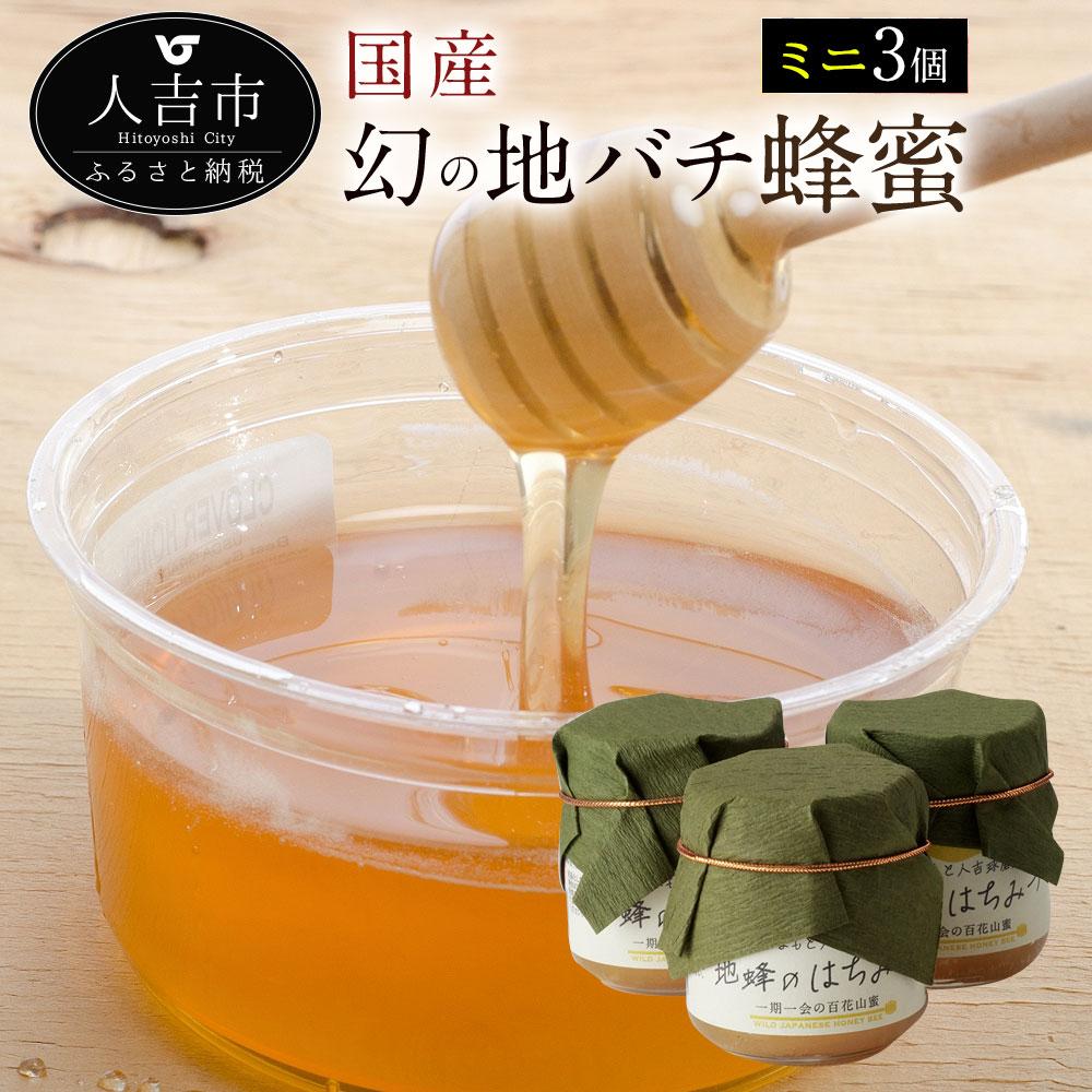 【ふるさと納税】人吉球磨産 幻の地バチの蜂蜜 50g×3個 国産 はちみつ ハチミツ 調味料 九州 熊本 送料無料
