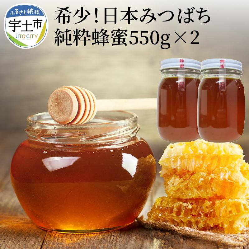 送料無料 激安 お買い得 キ゛フト 大変貴重な日本みつばちの蜂蜜です ビタミンやミネラルも豊富で 味は濃厚でまろやかです たっぷり1100g 安売り ふるさと納税 東養蜂園 純粋蜂蜜550g×2本セット 熊本県宇土市 日本みつばち 希少