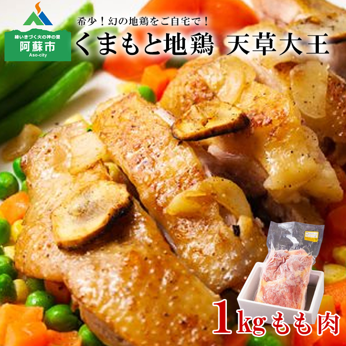 熊本 阿蘇 希少 地鶏 送料無料 一部地域を除く 超歓迎された もも肉 1kg ふるさと納税 天草大王 バーベキュー まとめ買い おうちごはん お取り寄せ 鶏肉