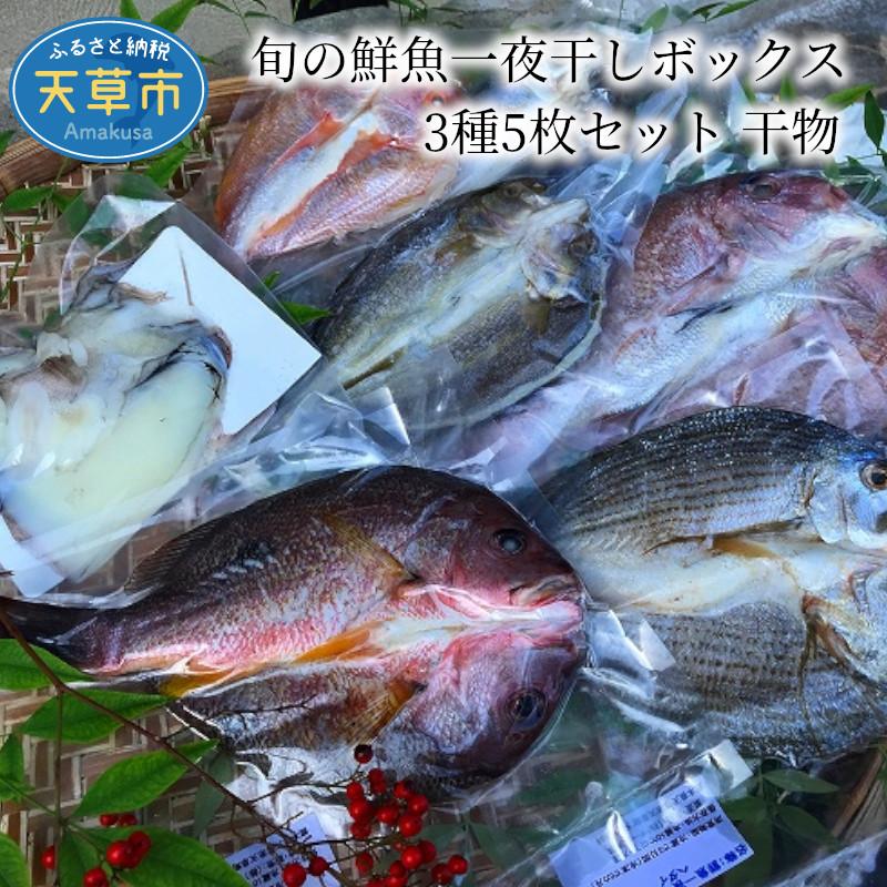 【ふるさと納税】旬の鮮魚一夜干しボックス 3種5枚セット 干物