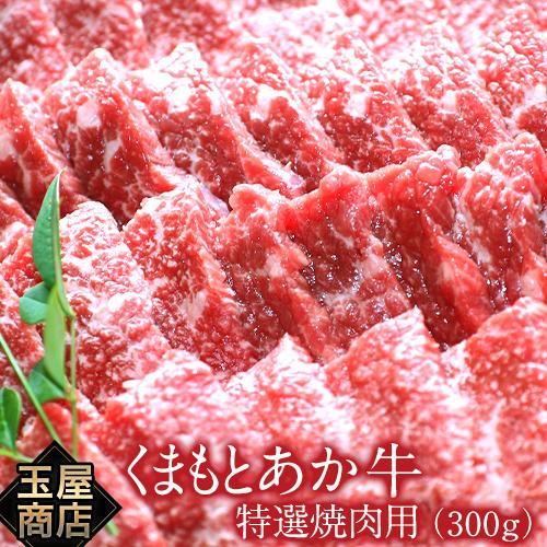【ふるさと納税】熊本の和牛くまもとあか牛 特選焼き肉用 300g 玉屋商店 熊本あか牛 赤牛 あかうし《30日以内に順次出荷(土日祝除く)》