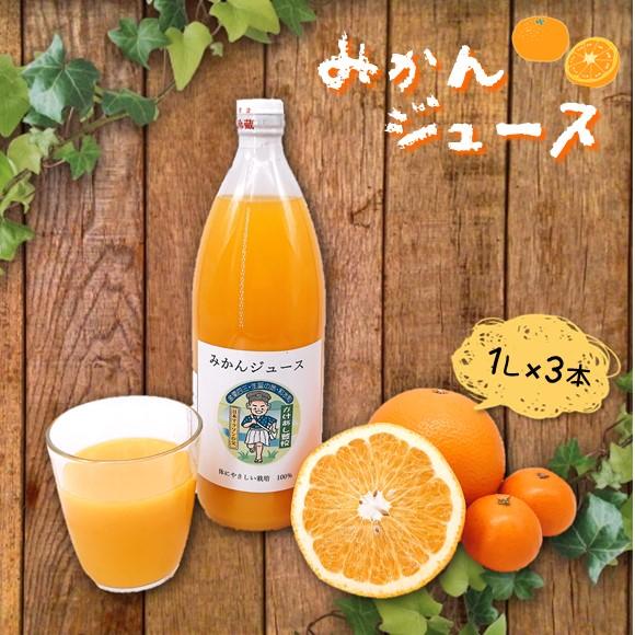 【ふるさと納税】『梅野農園』本物実感みかんジュース (1リットル×3本)