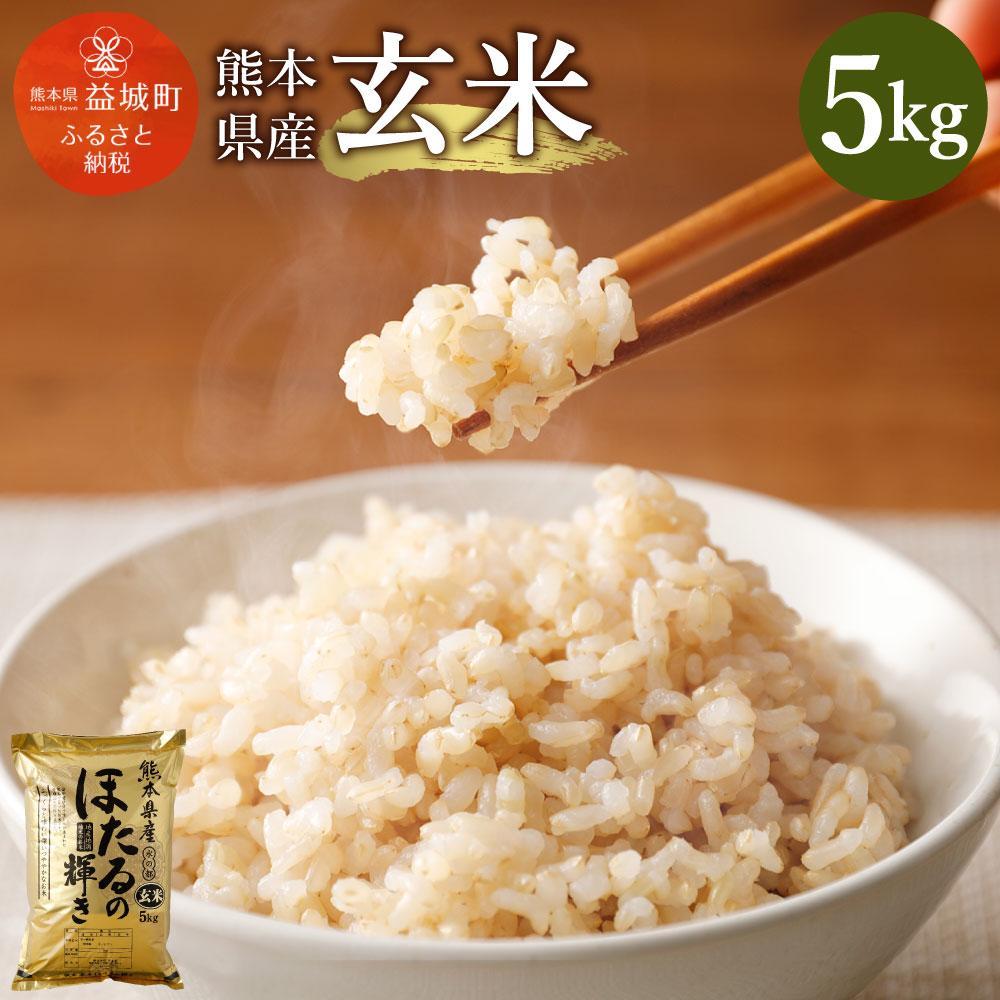 【ふるさと納税】熊本県産 玄米 5kg ヒノヒカリ ほたるの輝き お米 令和元年産 米 益城町 九州産 国産 送料無料