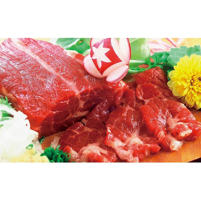 【ふるさと納税】馬刺し赤身セット(6~7人前)専用醤油付き 【お肉・馬肉・さくら肉・詰め合わせ】