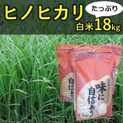 【ふるさと納税】山間地湧水米 ヒノヒカリ(白米)たっぷり18kg 【お米】