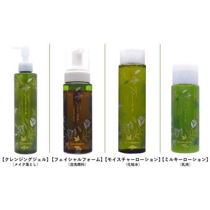【ふるさと納税】山都町で栽培されたへちま水を配合した基礎化粧品「ティーナシリーズ」4点セット 【スキンケア・化粧水・乳液・石鹸/液体せっけん】