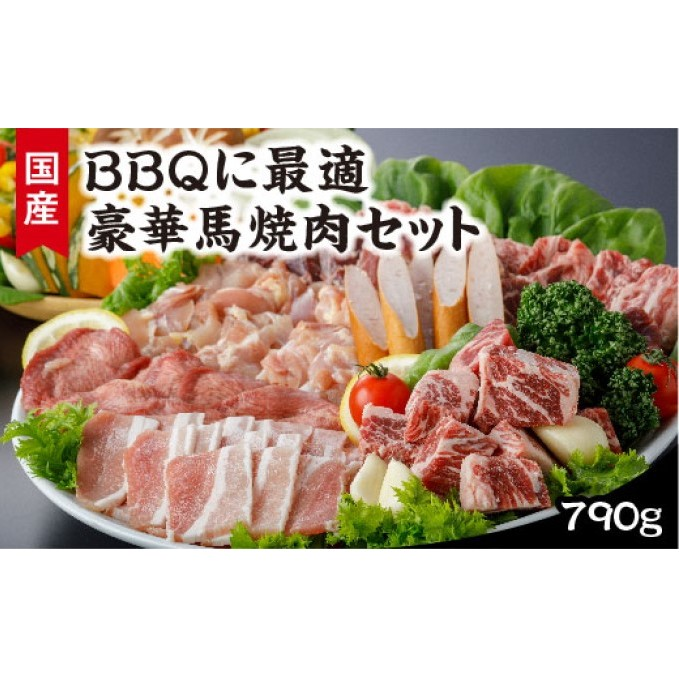 【ふるさと納税】BBQに最適豪華馬焼肉セット 【馬肉・お肉・ソーセージ・バーベキュー・焼肉】