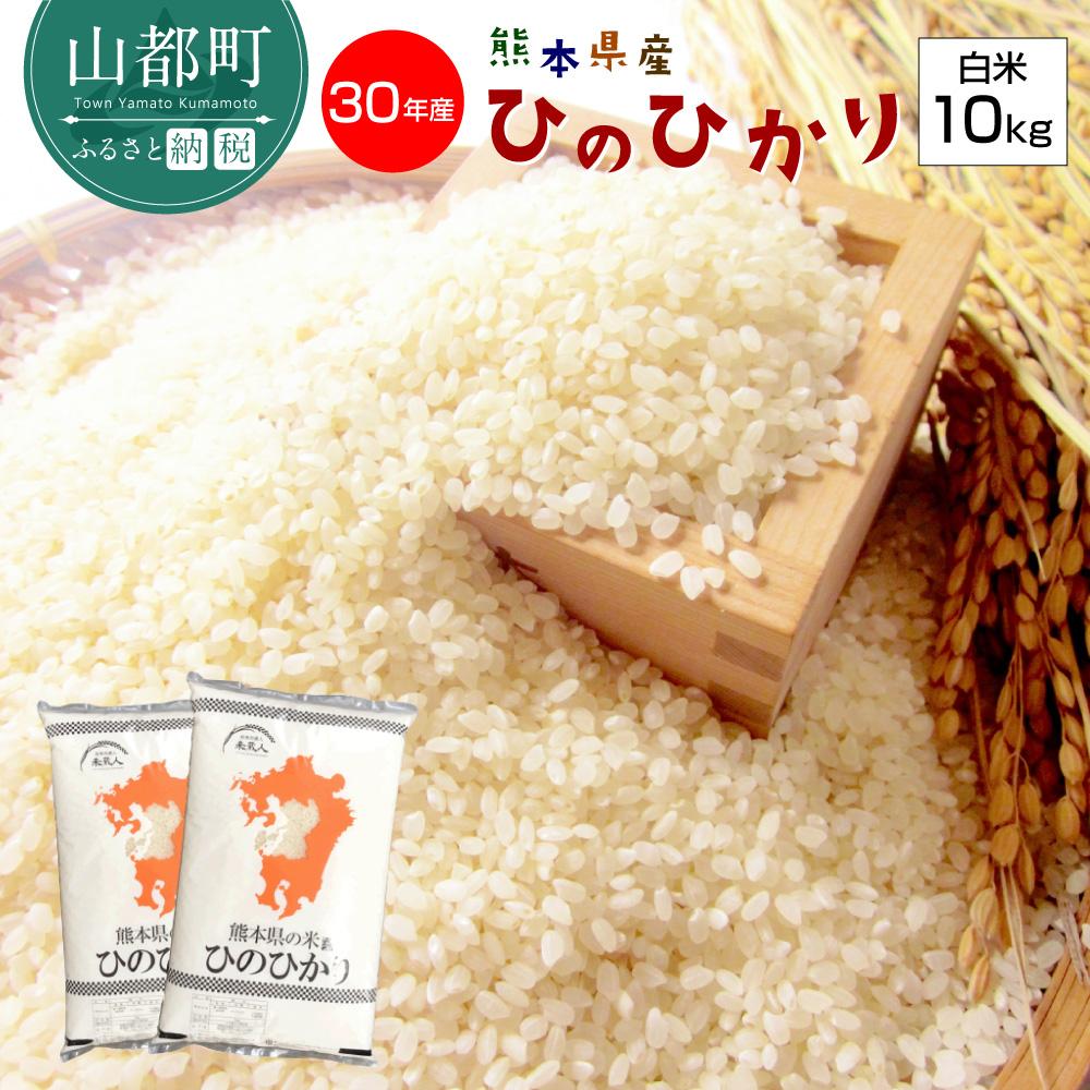 【ふるさと納税】熊本県産 ヒノヒカリ 白米10kg