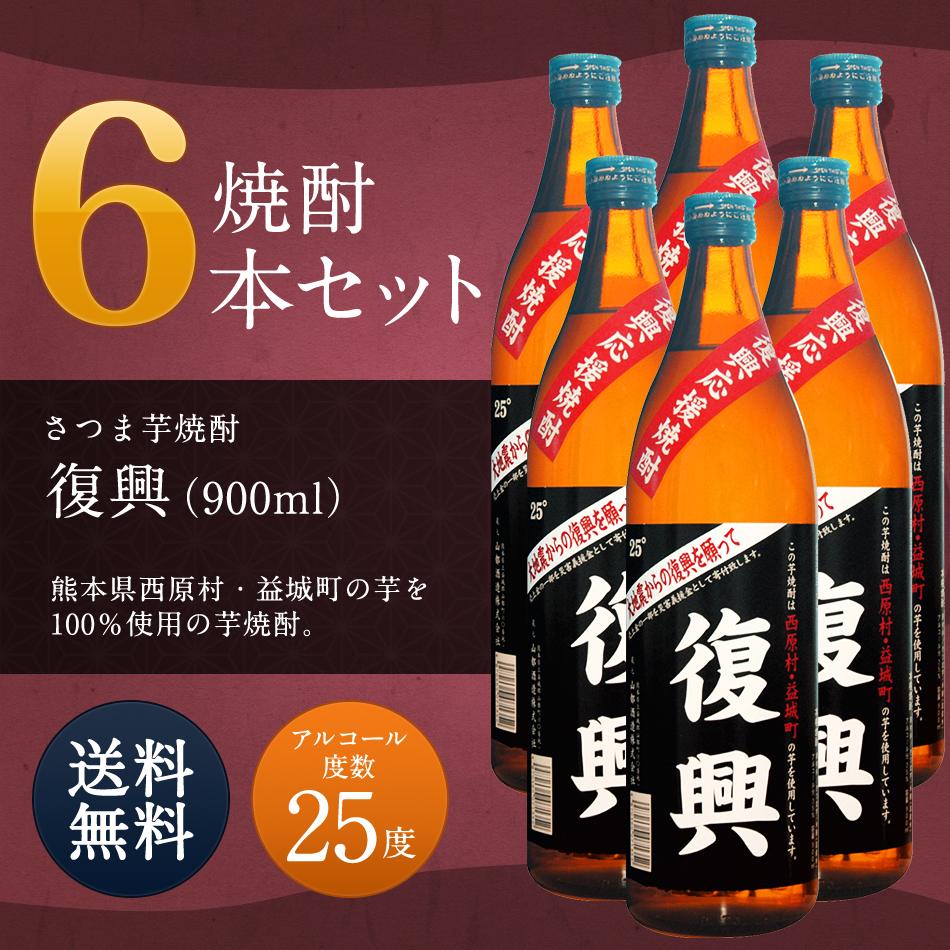 【ふるさと納税】焼酎6本セット 復興 900ml