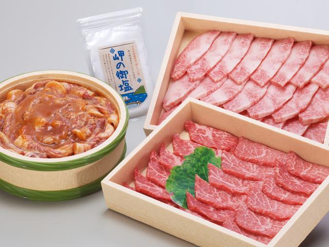 【ふるさと納税】あしきた牛焼肉、味噌豚セット