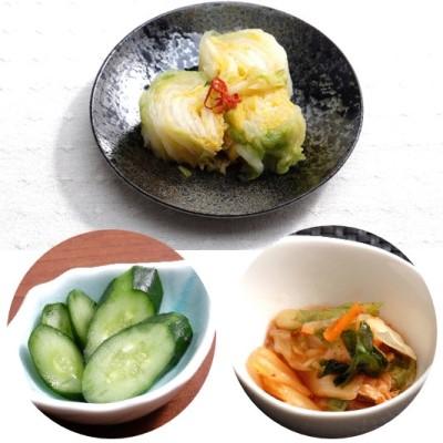 【ふるさと納税】漬物(白菜・きゅうり)と元気キムチの詰合せ 【発酵食品・発酵食品・発酵食品】