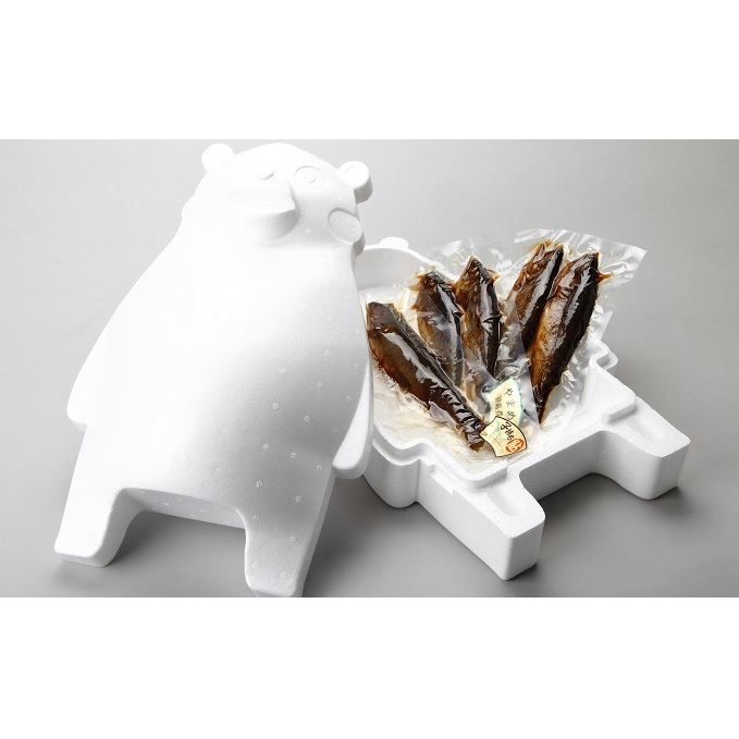 【ふるさと納税】川の幸3種 甘露煮 食べ比べセット くまモン保冷ケース付き 【魚貝類・鮎・アユ・魚貝類・鱒・ます・加工食品】