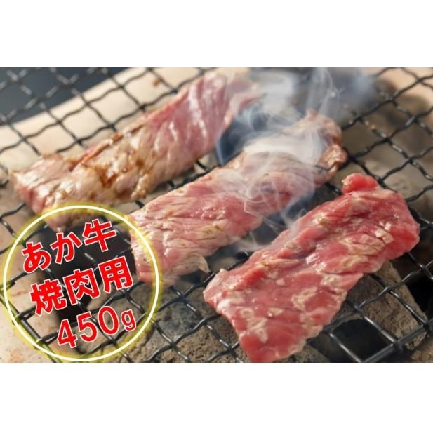 【ふるさと納税】くまもとあか牛 焼肉450g 【お肉・牛肉・焼肉・バーベキュー】