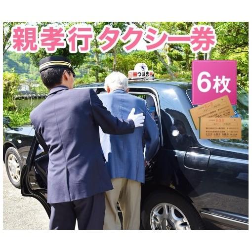 【ふるさと納税】親孝行タクシー券(補助券) 6枚綴り 【チケット】