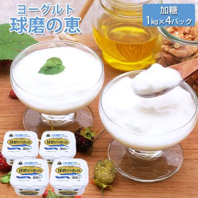 【ふるさと納税】球磨の恵ヨーグルト 1kg×4パック 【乳製品・ヨーグルト・砂糖・シュガー】