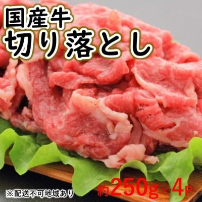 熊本県錦町 ふるさと納税 即納最大半額 国産牛 切り落とし 交雑種 牛肉 お肉 配送不可:離島 牛肉炒め物 約250g×4P 毎日がバーゲンセール