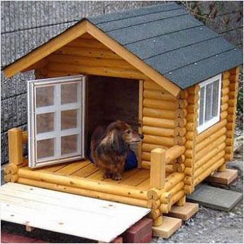 【ふるさと納税】ログペットハウス 犬小屋 犬舎1000型 デラックス 小型犬用