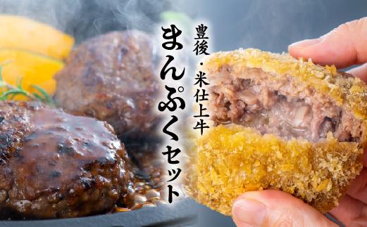 【ふるさと納税】豊後・米仕上牛ハンバーグ、メンチカツセット(計10個)【豊後高田市限定】