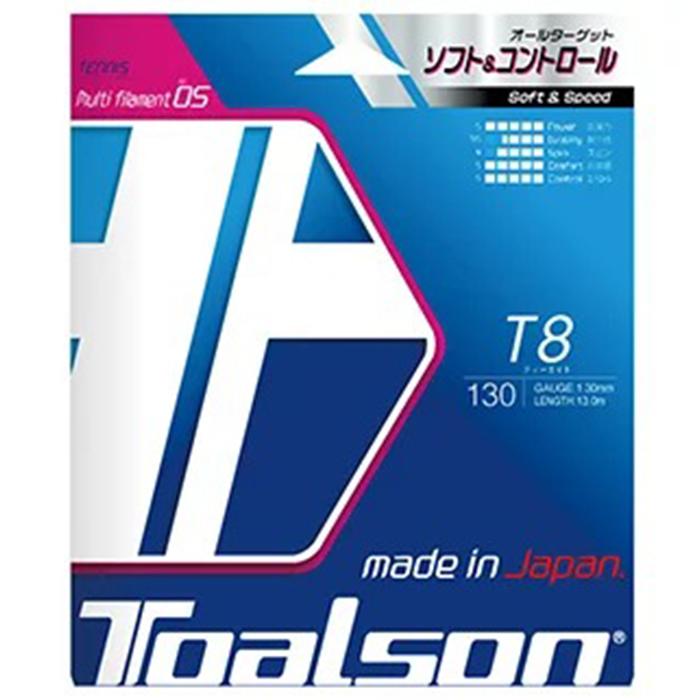 【ふるさと納税】トアルソン 硬式テニスストリング T8 BOX(22張り入り)※ゲージ1.3mm<23-H5002>