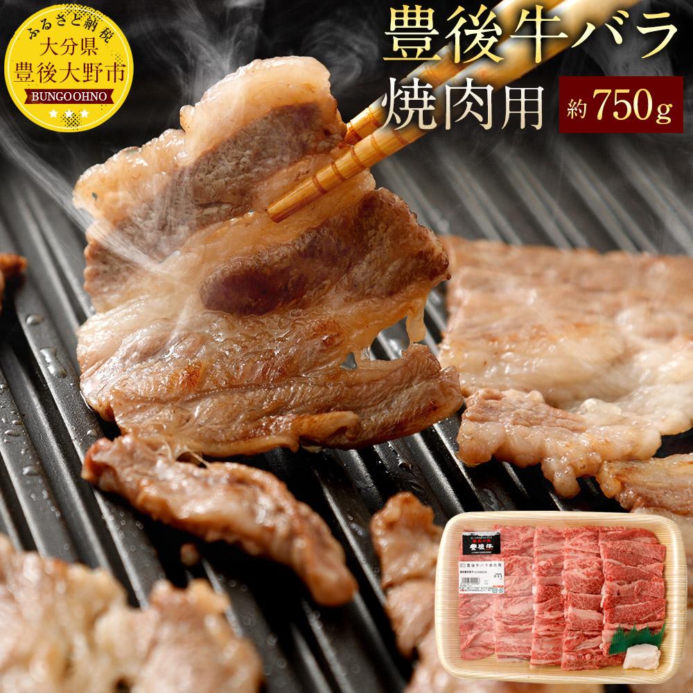 【ふるさと納税】豊後牛バラ 焼肉用 約750g 九州産 国産 大分県産 牛肉 牛バラ 冷蔵 送料無料