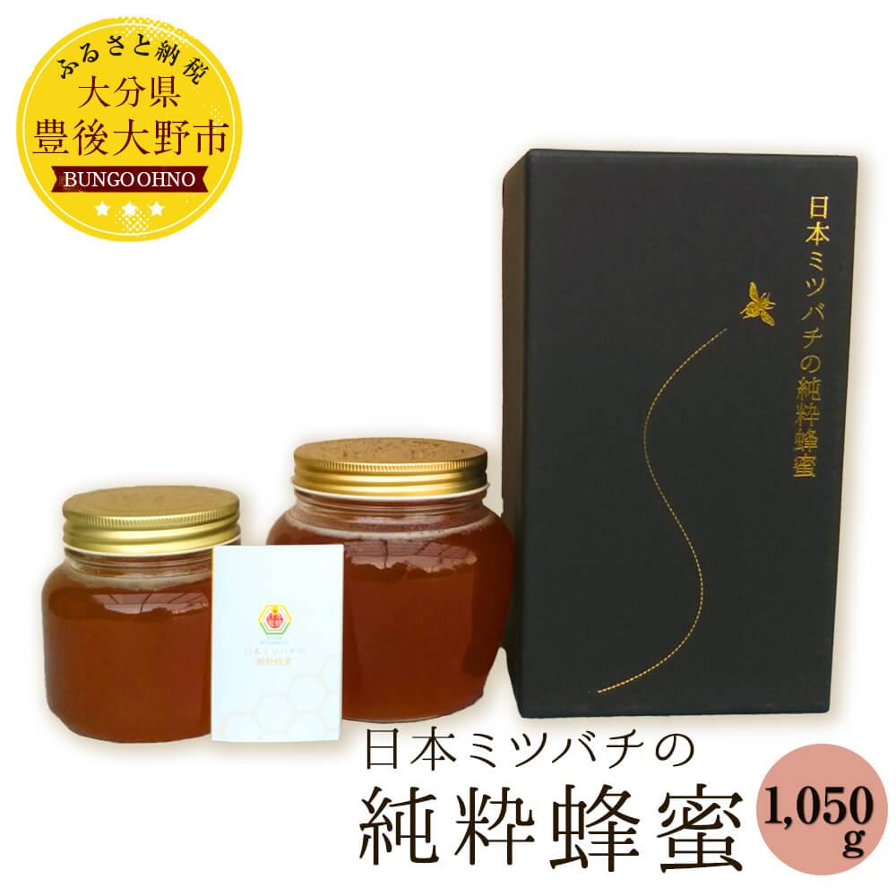【ふるさと納税】日本ミツバチの純粋蜂蜜 1,050g (420g×1、630g×1) ハチミツ 大分県産 豊後大野産 ギフト 贈り物 送料無料